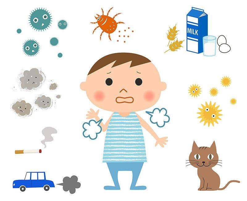 80% of kids allergic